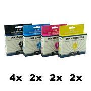 DK-T441 bis DK-T444, 10er Sparset, kompatibel zu T0441 bis T0444